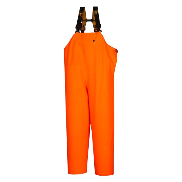 Hitra Bib & Brace Trousers Colour: Orange