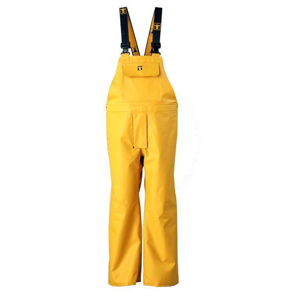 Heavy Duty Bib & Brace Trousers - Colour: Yellow - Size 00) X Small