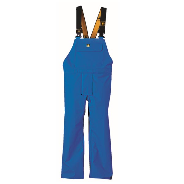 Heavy Duty Bib & Brace Trousers - Colour: Blue - Size 01) Small