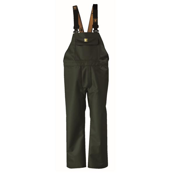 Heavy Duty Bib & Brace Trousers - Colour: Green - Size 01) Small