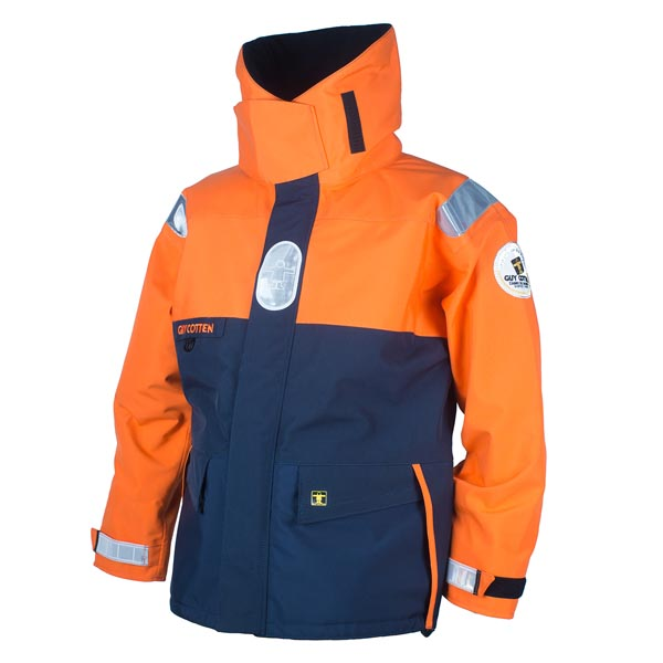 Trophee Jacket - Navy/Orange Size 03) Large