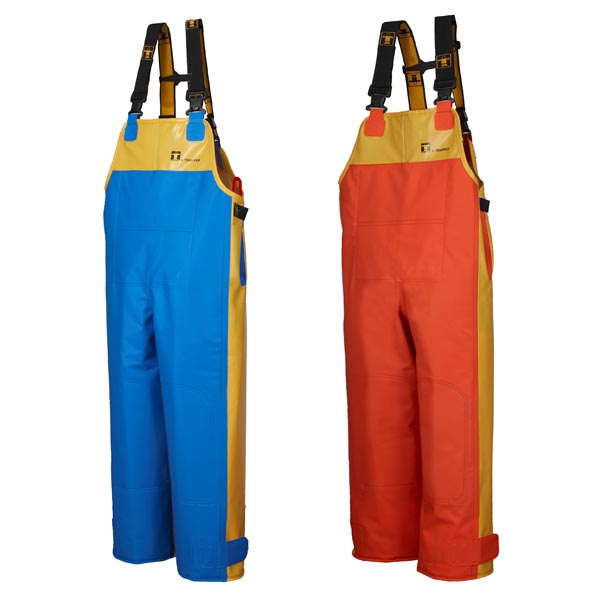X Trapper Bib & Brace Trousers - Colour: Yellow/Blue - Size 05) XX Large